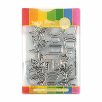 Waffle Flower Crafts - Craft Die and Acrylic Stamp Set - Spice Garden