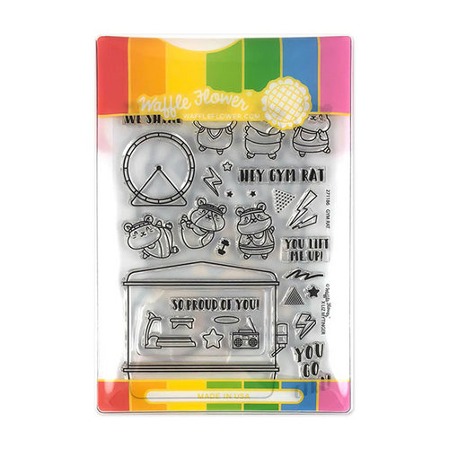 Waffle Flower Crafts - Craft Die and Acrylic Stamp Set - Gym Rat