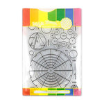 Waffle Flower Crafts - Craft Die and Acrylic Stamp Set - Color Wheels