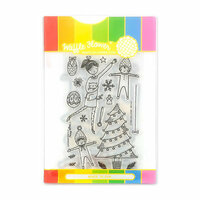 Waffle Flower Crafts - Christmas - Craft Die and Acrylic Stamp Set - Deck the Halls