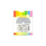 Waffle Flower Crafts - Craft Die and Acrylic Stamp Set - Rainbow Cheers