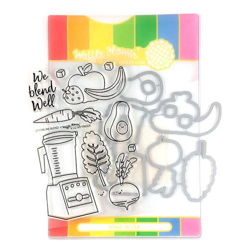 Waffle Flower Crafts - Craft Die and Photopolymer Stamp Set - We Blend