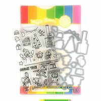 Waffle Flower Crafts - Christmas - Craft Die and Photopolymer Stamp Set - Cookie Time
