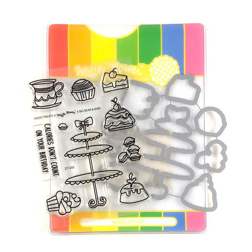 Waffle Flower Crafts - Craft Die and Photopolymer Stamp Set - Sweet Treats