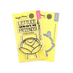 Waffle Flower Crafts - Craft Die and Photopolymer Stamp Set - Lettuce