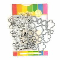 Waffle Flower Crafts - Craft Die and Photopolymer Stamp Set - Hello Pumpkin