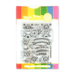 Waffle Flower Crafts - Craft Die and Photopolymer Stamp Set - Yippee