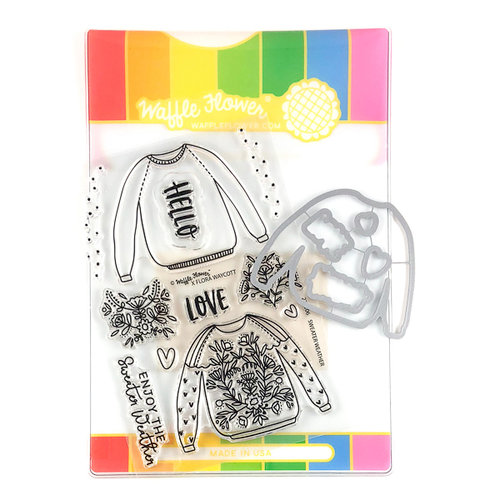 Waffle Flower Crafts - Craft Die and Photopolymer Stamp Set - Sweater Weather