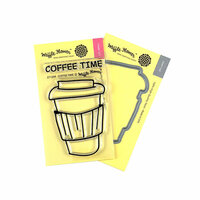 Waffle Flower Crafts - Craft Die and Photopolymer Stamp Set - Coffee Time