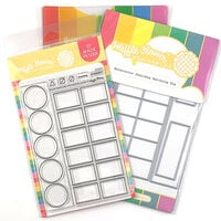 Waffle Flower Crafts - Craft Die and Photopolymer Stamp Set - Watercolor Swatches Combo