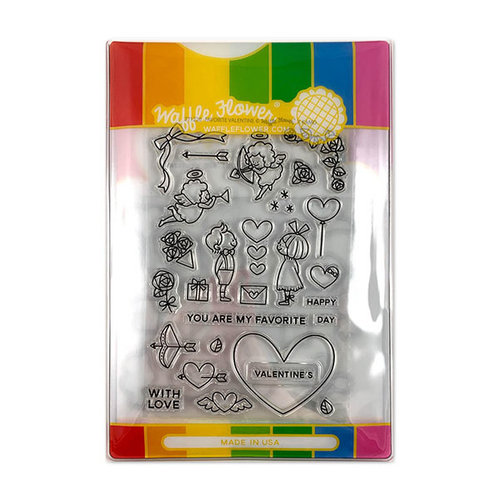 Waffle Flower Crafts - Craft Die and Photopolymer Stamp Set - Favorite Valentine