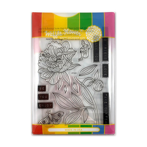 Waffle Flower Crafts - Craft Die and Photopolymer Stamp Set - Peony Dreams