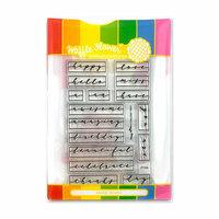 Waffle Flower Crafts - Craft Die and Photopolymer Stamp Set - Label Greetings
