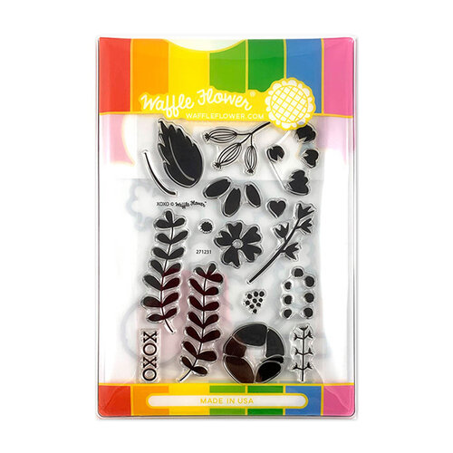 Waffle Flower Crafts - Craft Die and Photopolymer Stamp Set - XOXO