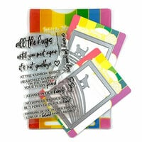 Waffle Flower Crafts - Craft Die and Photopolymer Stamp Set - Rainbow Bridge