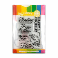 Waffle Flower Crafts - Craft Die and Photopolymer Stamp Set - Bold Sentiments