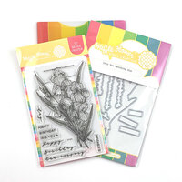 Waffle Flower Crafts - Craft Die and Photopolymer Stamp Set - Iris You Combo