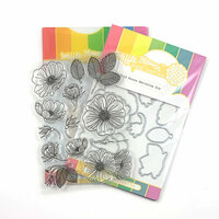 Waffle Flower Crafts - Craft Die and Photopolymer Stamp Set - Wild Roses