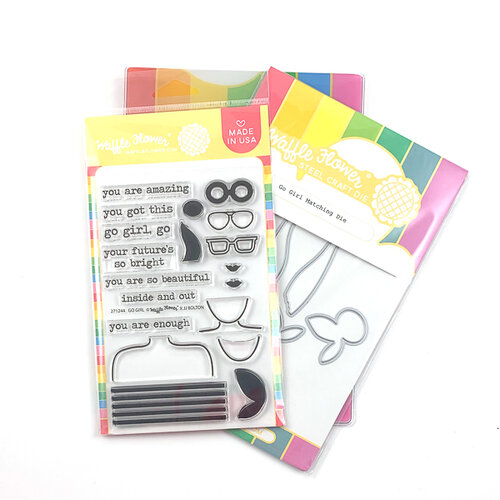 Waffle Flower Crafts - Craft Die and Photopolymer Stamp Set - Go Girl