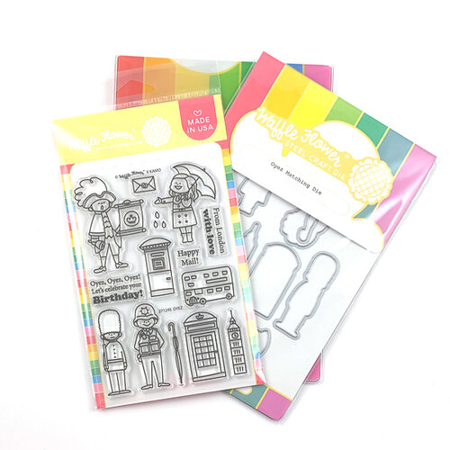 Waffle Flower Crafts - Craft Die and Photopolymer Stamp Set - Oyez