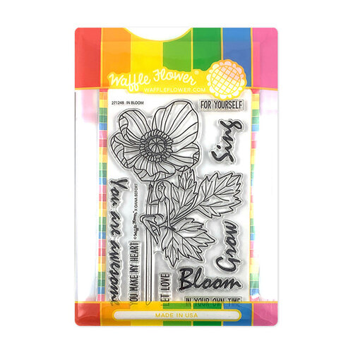 Waffle Flower Crafts - Craft Die and Photopolymer Stamp Set - In Bloom Combo