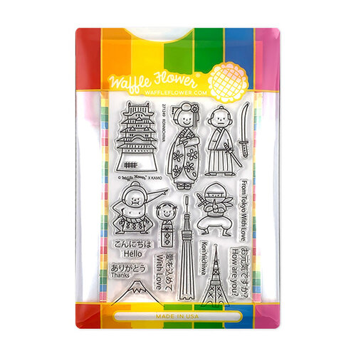 Waffle Flower Crafts - Craft Die and Photopolymer Stamp Set - Konnichiwa Combo