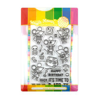 Waffle Flower Crafts - Craft Die and Photopolymer Stamp Set - P-arr-ty Time Combo
