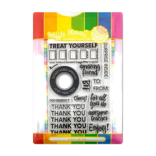 Waffle Flower Crafts - Craft Die and Photopolymer Stamp Set - Coffee Cup Combo