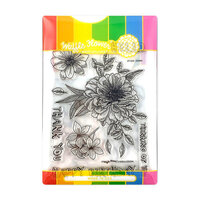 Waffle Flower Crafts - Craft Die and Photopolymer Stamp Set - Zinnia Combo