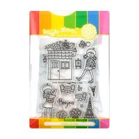 Waffle Flower Crafts - Craft Die and Photopolymer Stamp Set - Bonjour Combo