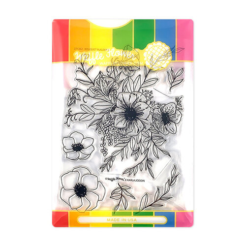 Waffle Flower Crafts - Craft Die and Photopolymer Stamp Set - Bouquet Builder 5 Combo