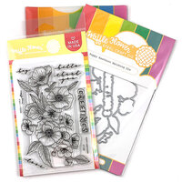 Waffle Flower Crafts - Craft Die and Photopolymer Stamp Set - Poppy Hawthorn Combo