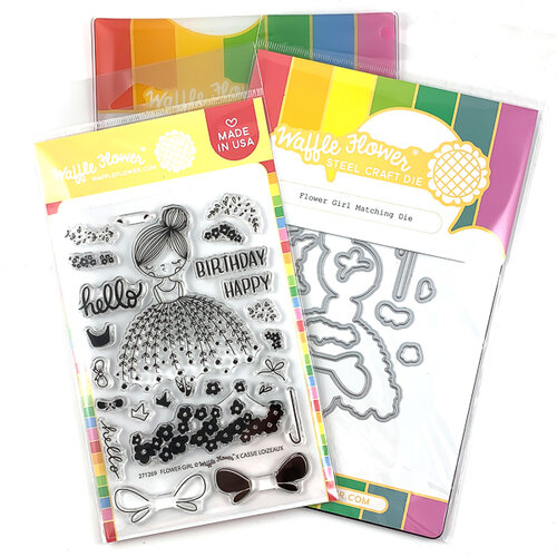 Waffle Flower Crafts - Craft Die and Photopolymer Stamp Set - Flower Girl Combo