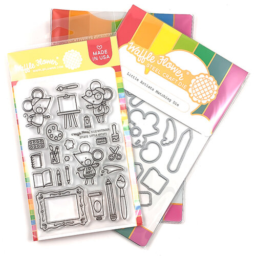 Waffle Flower Crafts - Craft Die and Photopolymer Stamp Set - Little Artists Combo