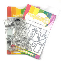 Waffle Flower Crafts - Craft Die and Clear Photopolymer Stamp Set - Happy Fall Combo