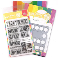 Waffle Flower Crafts - Craft Die and Photopolymer Stamp Set - Big Dots Combo