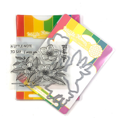 Waffle Flower Crafts - Craft Die and Clear Photopolymer Stamp Set - A Little Note Combo