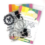 Waffle Flower Crafts - Craft Die and Photopolymer Stamp Set - Merry Wreath Combo