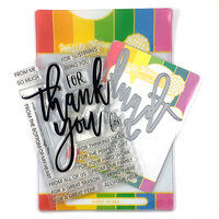 Waffle Flower Crafts - Craft Die and Clear Photopolymer Stamp Set - Oversized Thank You Combo