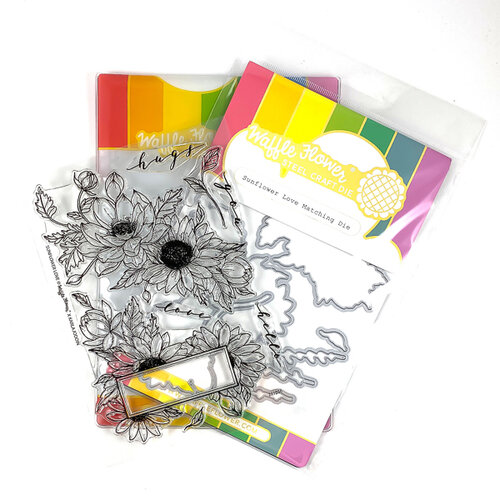 Waffle Flower Crafts - Craft Die and Photopolymer Stamp Set - Sunflower Love Combo