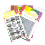 Waffle Flower Crafts - Craft Die and Photopolymer Stamp Set - Herringbone Combo
