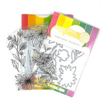 Waffle Flower Crafts - Craft Die and Clear Photopolymer Stamp Set - Bouquet Builder 6 Combo