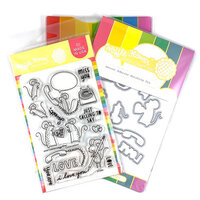 Waffle Flower Crafts - Craft Die and Clear Photopolymer Stamp Set - Secret Admirer Combo