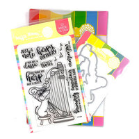 Waffle Flower Crafts - Craft Die and Clear Photopolymer Stamp Set - Harpy Birthday Combo