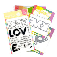 Waffle Flower Crafts - Craft Die and Clear Photopolymer Stamp Set - Outline Love Combo