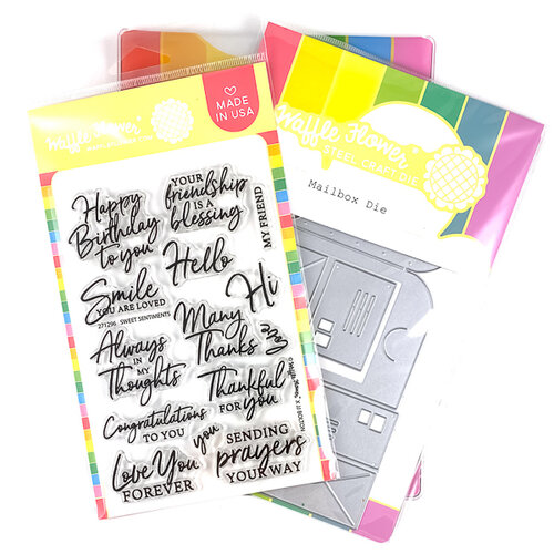 Waffle Flower Crafts - Craft Die and Clear Photopolymer Stamp Set - Sweet Mailbox Combo
