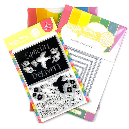 Waffle Flower Crafts - Craft Die and Clear Photopolymer Stamp Set - Special Delivery Combo