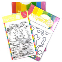 Waffle Flower Crafts - Craft Die and Clear Photopolymer Stamp Set - Love You Bunnies Combo