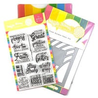 Waffle Flower Crafts - Craft Die and Clear Photopolymer Stamp Set - Fresh Rainbow Combo