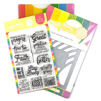 Waffle Flower Crafts - Craft Dies and Clear Photopolymer Stamp Set - Fresh Rainbow Combo